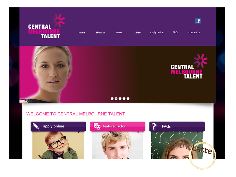 central melbourne talent website development