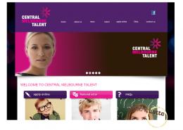 central melbourne talent website development
